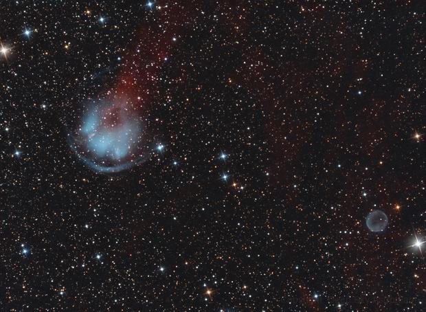 HFG1 & Abell6 Planetary Nebulae,                                Frank Iwaszkiewicz
