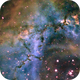 Nebulous region of the Rosette Nebula in the Hubble palette SHO,                                Mike