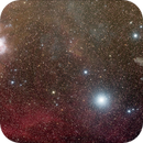 Star Rigel, Witchhead Nebula and Orion Nebula,                                Carsten Jacobs
