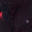 Pleiades and The California Nebula,                                Kurt Zeppetello