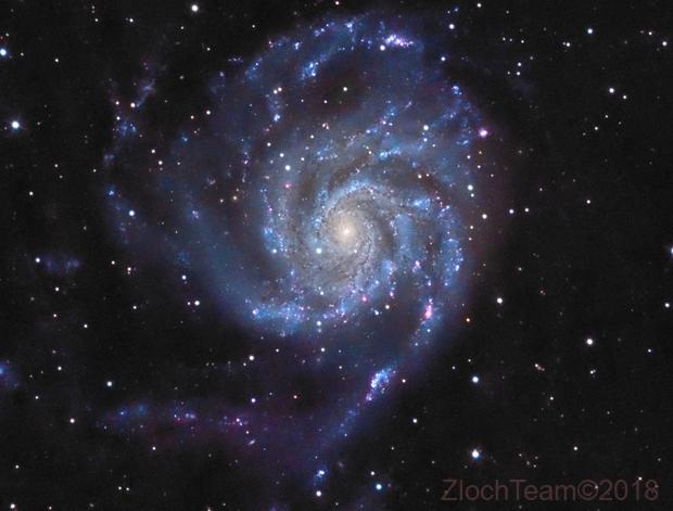 M101 - La galaxie du Moulinet,                                ZlochTeamAstro