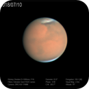 Dusty Mars from 1 m telescope,                                Dzmitry Kananovich