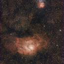M21, M20 and M8 Lagoon Nebula,                                Wolfgang Zimmermann