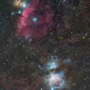 Flame, Horsehead and Orion Nebula,                                Marukawa