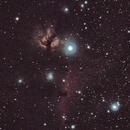 Flame Nebula and Horsehead Nebula - First Attempt,                                JDJ