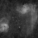 Flaming Star and Tadopole Nebulae HA,                                pterodattilo
