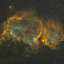 IC 1848 The Soul nebula in narrowband,                                Komet