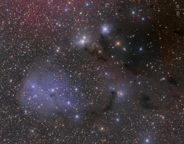 Dreyer's Nebula IC447, IC2169 and surrounding,                                T.Space