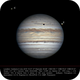 Jupiter 6 July 2019 with Callisto and Europa,                                LacailleOz