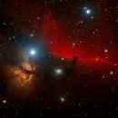 IC434 & NGC2024 - The Horsehead and Flame Nebula,                                Focus AG