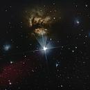 Horsehead and Flame nebula,                                Goddchen