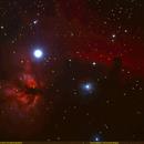 Horsehead and Flame nebulae,                                Uri Abraham