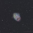 M1 in Hubble palette (Ha, OIII, SII),                                Benoit Gagnon