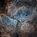 NGC 3372  Carina Nebula in narrowbands,                                David Nguyen