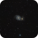 Messier Object 51 - Whirlpool Galaxy,                                AstroPoverty
