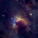 Cave Nebula (Sh2-155) in Hubble Palette + RGB,                                Jose Carballada