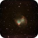 M 27 Nebula from france in city 18 November 2015,                                Lionel