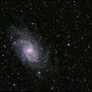 M33, galaxie du Triangle,                                Nicolas Aguilar (Actarus09)