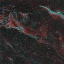 Western Veil Nebula in Hydrogen Alpha and OIII Light - data from Deep Sky West,                    Dean Jacobsen