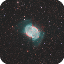M27 in HOO with RGB stars with my little 100mm APO,                                Sven Hoffmann