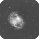 My Journey in Astrophotography - Dumbbell Nebula One Year Ago (color) vs. Today (monochrome),                                William Gottemoller