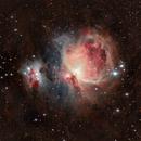 M42 Orionnebula and Running Man Nebula Sh2-279 - Remastred - Bortle 8-9,                                Andreas Nilsson