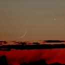 1.2% Waxing Crescent Moon and 97.7% Waning Gibbous Venus,                                Steven Bellavia