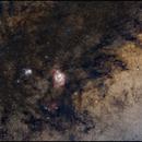 Lagoon and Trifid Nebulas - Another edit,                                TC_Fenua