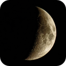 same moon 2 days later @1200 mm,                                Eddy Cochez