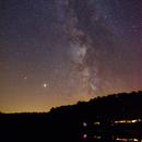Saturn chases Jupiter across the Summer Milky Way,                                Frank Rogin