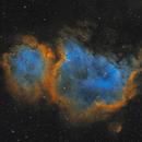 Soul Nebula in Cassiopeia - SHO,                                Steve Milne