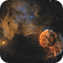 The Jellyfish Nebula (IC443) imaged in SHO,                                Andrew Klinger