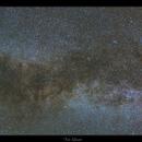 Panorama Voie Lactée centré sur la constellation du Cygne,                                dsoulasphotographie
