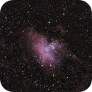 M16/IC 4703 Eagle Nebula with Pillars of Creation and open star cluster Tr 32,                                Simon Schweizer