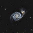 M51 from a white zone,                                Glenn C Newell