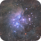 M45 - Pleiades HaLRGB,                                Dennis Sprinkle