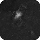M16 and  M17 15 Panel Mosaic in OIII,                                Ian Parr