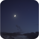 Moon, Jupiter and Saturn conjunction, Canon EOS 6D Mk2, 20201119,                                Geert Vandenbulcke