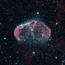 Crescent Nebula  NGC6888  H-O-O Narrowband,                                Craney