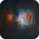 Orion Nebula - 2 Panel Narrowband Mosaic,                                John Willis