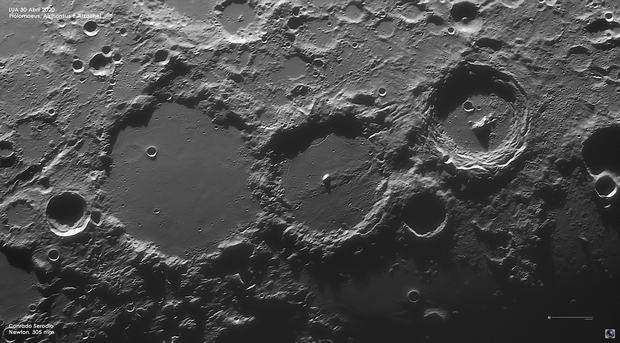 The famous trio of craters - Ptolomaeus, Alphonsus & Arzachel,                                Conrado Serodio