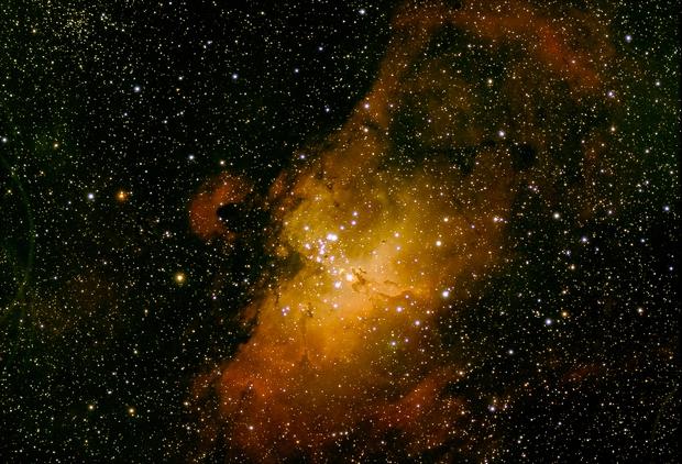 Eagle Nebula M16,                                Wissam_Astrophoto...