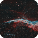 West Veil - Witch's Broom Nebula in HOO (version2),                                Andreas Eleftheriou