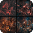 A Walk in Cygnus From Crescent to Propeller– 2 panels  - 4 palettes,                                Axel