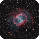 M27 Dumbbell nebula with outer halo,                                Andre van der Hoeven