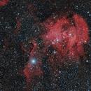 IC 2948 , RUNNING CHICKEN NEBULA ( COLOR RGB + H Alpha),                                JAIME FELIPE RAMIREZ NARVAEZ