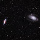 Bode's Galaxy and Cigar Galaxy - Ha Highlights,                                David Andra