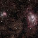The Lagoon Nebula (M8) and The Trifid Nebula (M20),                                Ryan Walsh