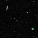 M97 and M108,                                starfield