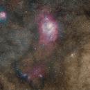 M8 M20 Lagoon and Trifid Nebulae,                                Dean Fournier